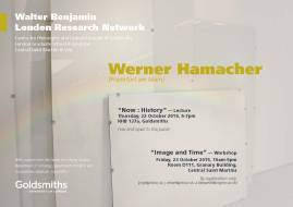 "Werner Hamacher – ""Image and Time"" - 23/10/15"