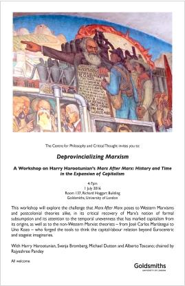 Deprovincialising Marxism - 01/07/16