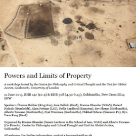 Powers and Limits of Property - 11/06/15