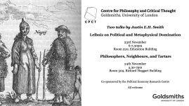 Two talks by Justin E.H. Smith on Leibniz and Domination / Philosophers and Neighbours - 23-24 November 2016