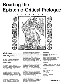 Reading the Epistemo-Critical Prologue - 13-14 January 2017