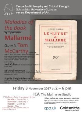 Maladies of the Book, I: Mallarmé (CPCT/Art Symposium Series)