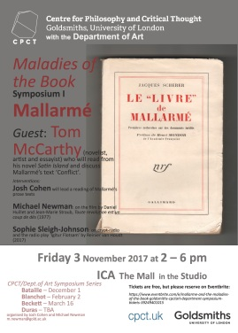 Maladies of the Book, I: Mallarmé (CPCT/Art Symposium Series)